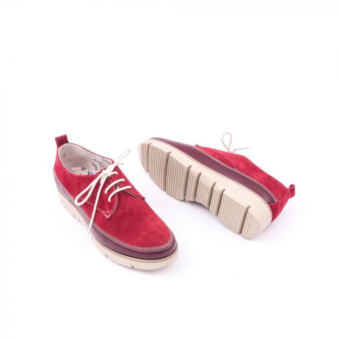 Pantofi casual LFX 198 visiniu velur. 2