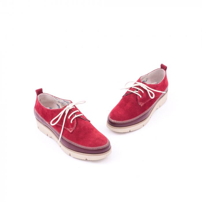Pantofi casual LFX 198 visiniu velur. 1