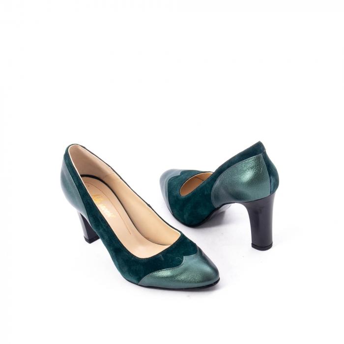Pantofi eleganti dama, piele naturala, Nike Invest, 265 VS1 verde 2
