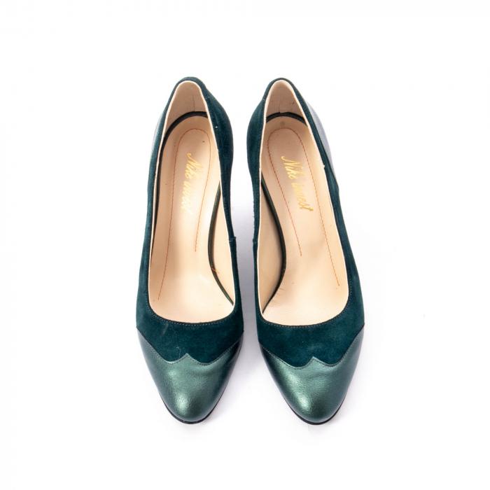 Pantofi eleganti dama, piele naturala, Nike Invest, 265 VS1 verde 5