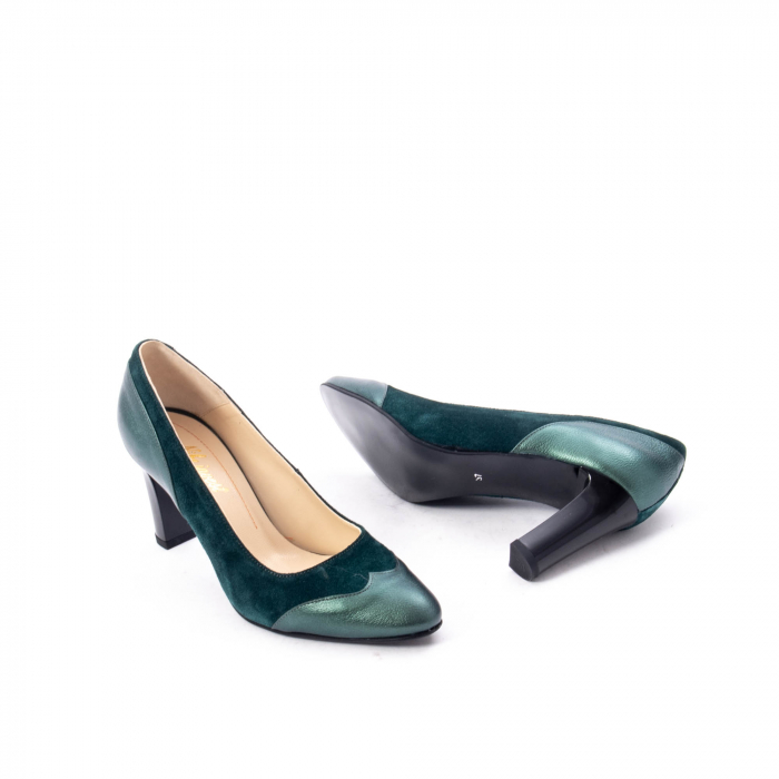 Pantofi eleganti dama, piele naturala, Nike Invest, 265 VS1 verde 3