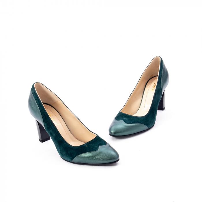 Pantofi eleganti dama, piele naturala, Nike Invest, 265 VS1 verde 1