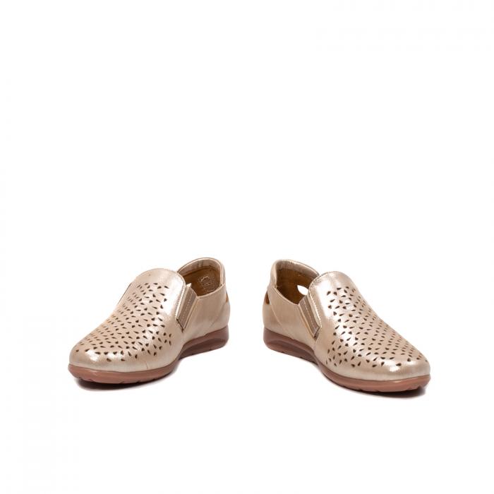 Pantofi dama casual de vara, piele naturala texturata, ZJ14152 4