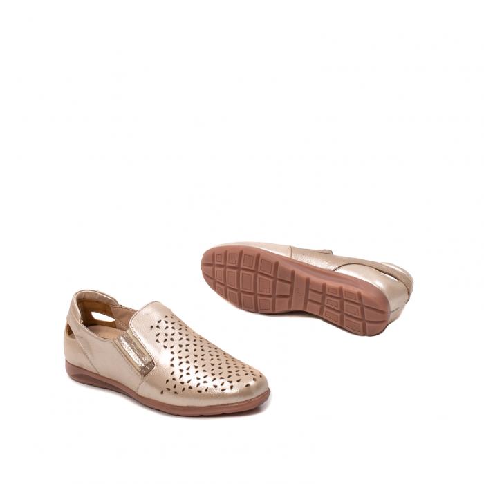 Pantofi dama casual de vara, piele naturala texturata, ZJ14152 3