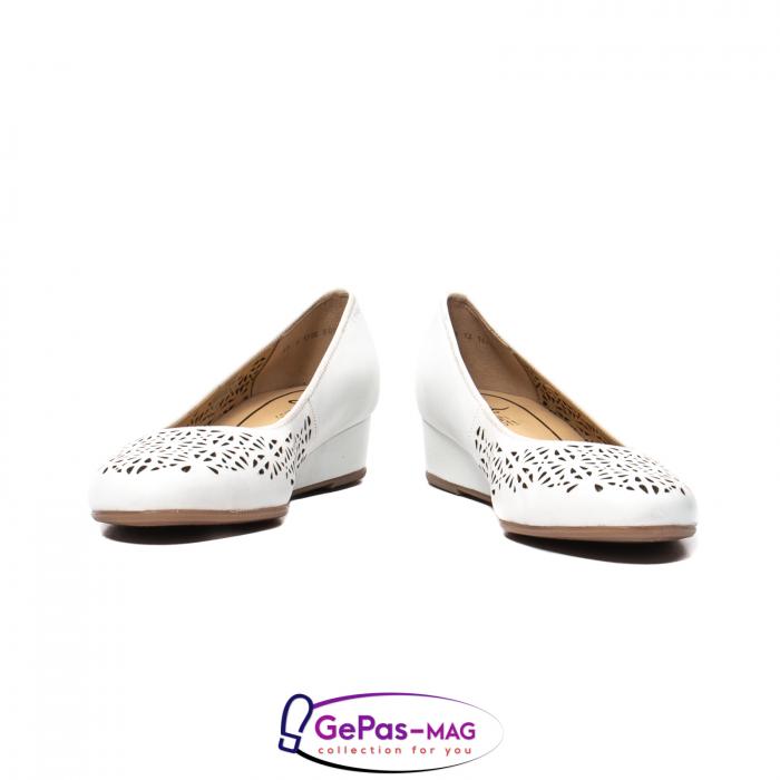 Pantofi dama de vara, piele naturala, 12-14334 4