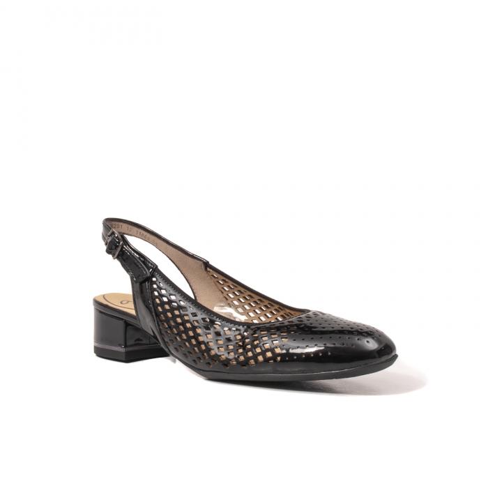Pantofi dama decupati, piele naturala, AR11863 0