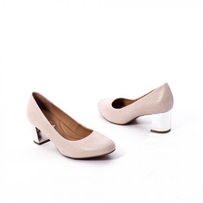 Pantofi dama eleganti piele naturala Epica oe7122, nude 2