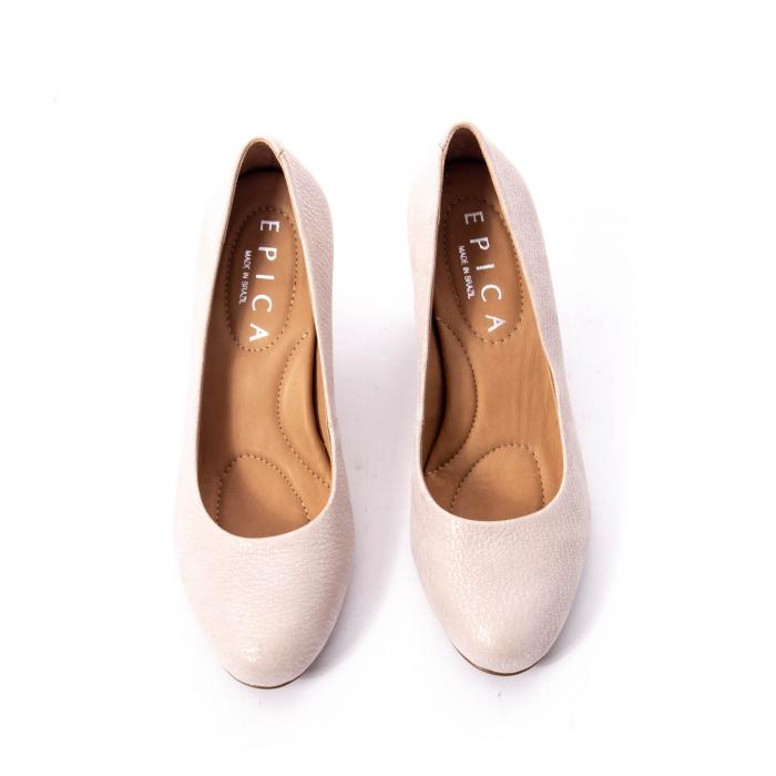 Pantofi dama eleganti piele naturala Epica oe7122, nude 5