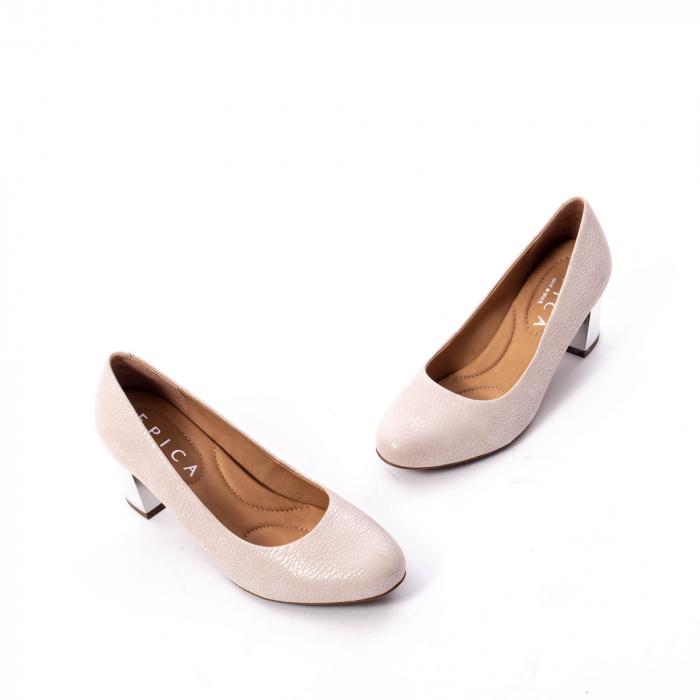 Pantofi dama eleganti piele naturala Epica oe7122, nude 1