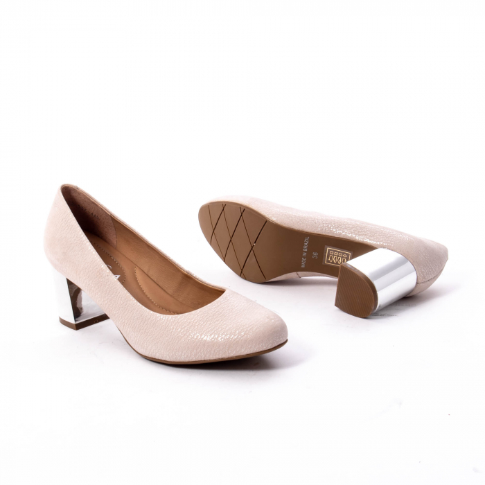 Pantofi dama eleganti piele naturala Epica oe7122, nude 3