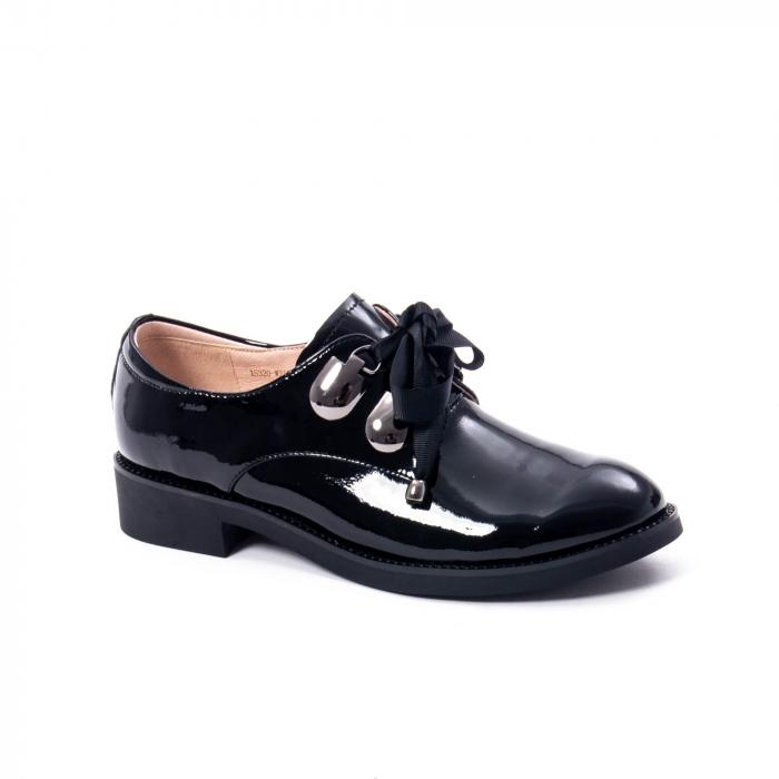 Pantofi casual dama din piele naturala Epica jixs320-01,negru lac 0