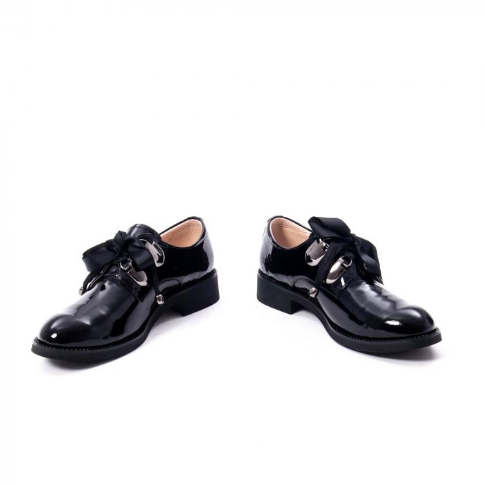 Pantofi casual dama din piele naturala Epica jixs320-01,negru lac 1