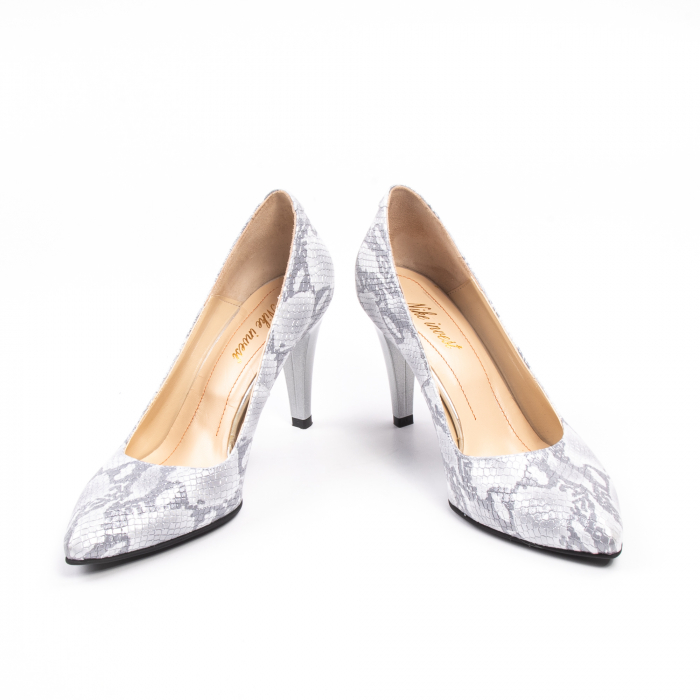 Pantofi dama Nike Invest 11702A piele naturala, argintiu 4