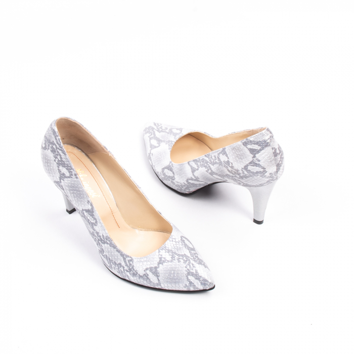 Pantofi dama Nike Invest 11702A piele naturala, argintiu 2
