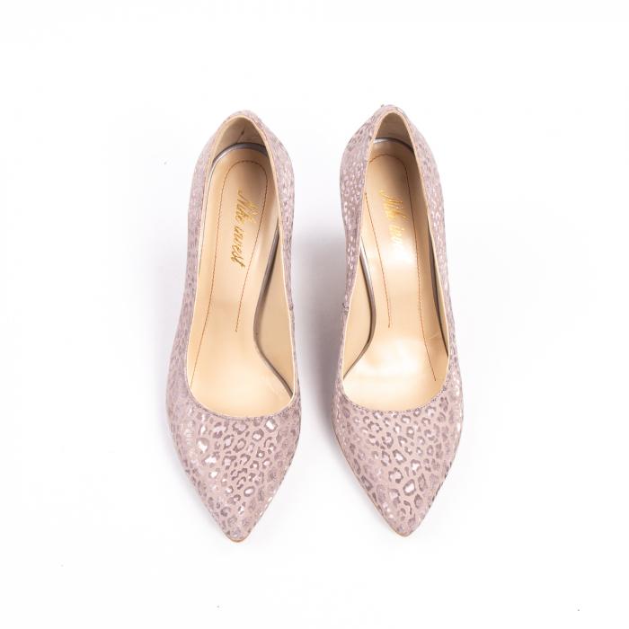 Pantofi dama Nike Invest 11709B piele naturala, pudra 5