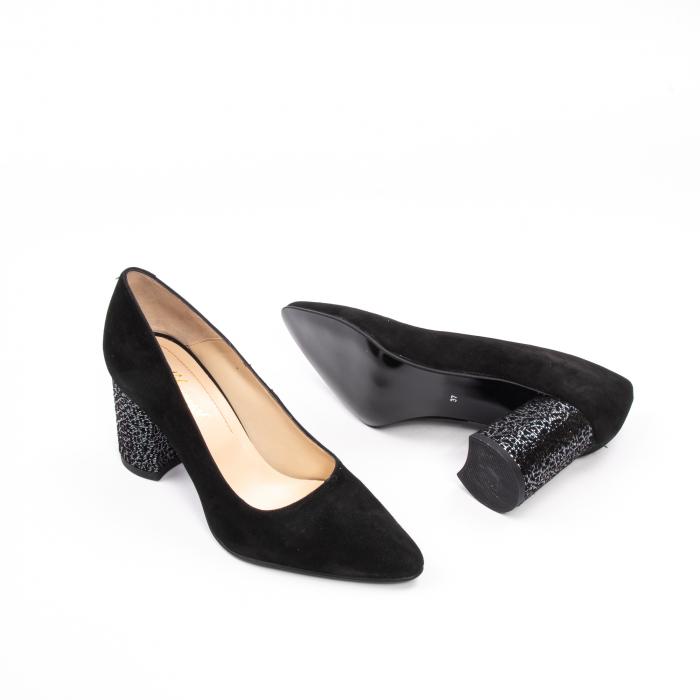 Pantofi dama piele naturala Nike Invest 322-buf, negru velur 3