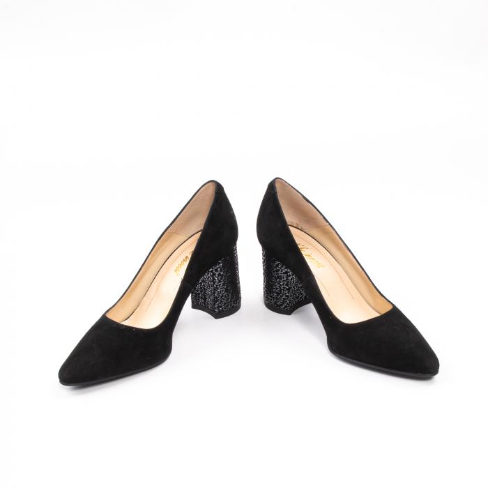 Pantofi dama piele naturala Nike Invest 322-buf, negru velur 4