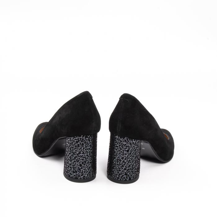 Pantofi dama piele naturala Nike Invest 322-buf, negru velur 6