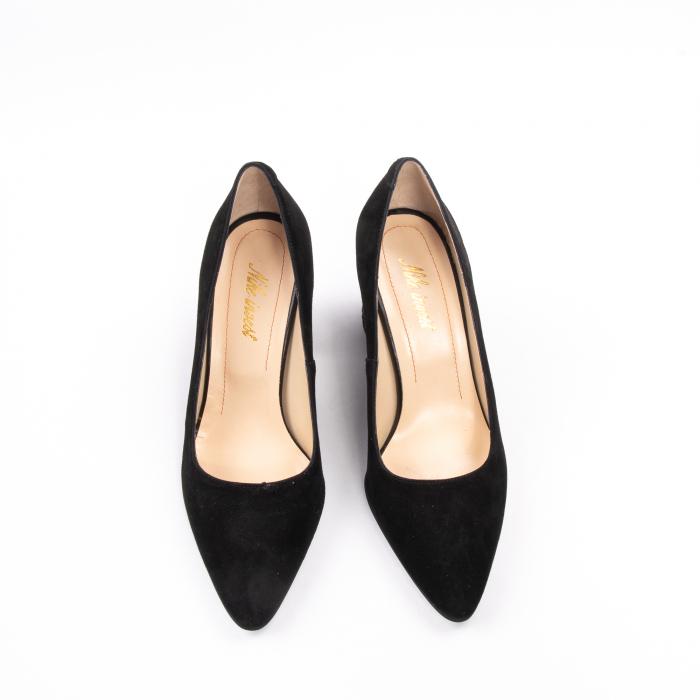 Pantofi dama piele naturala Nike Invest 322-buf, negru velur 5