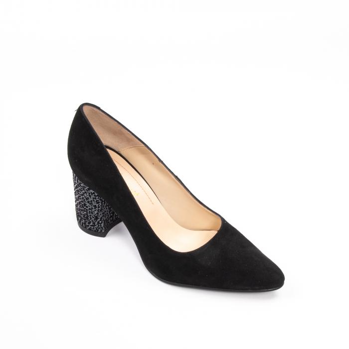 Pantofi dama piele naturala Nike Invest 322-buf, negru velur 0