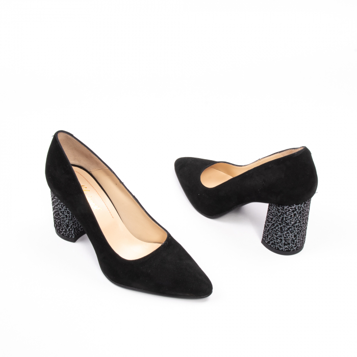 Pantofi dama piele naturala Nike Invest 322-buf, negru velur 2