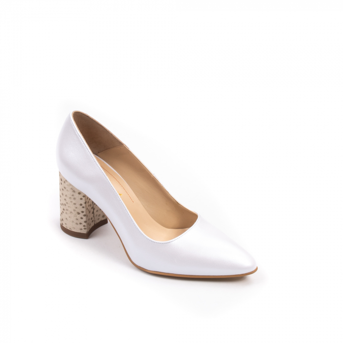 Pantofi dama Nike Invest 322 piele naturala, alb sidef 0