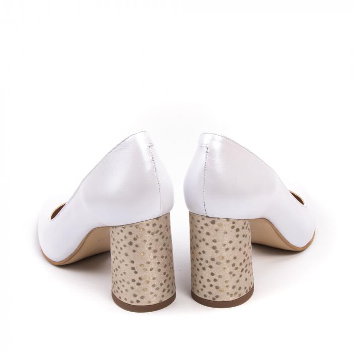 Pantofi dama Nike Invest 322 piele naturala, alb sidef 6