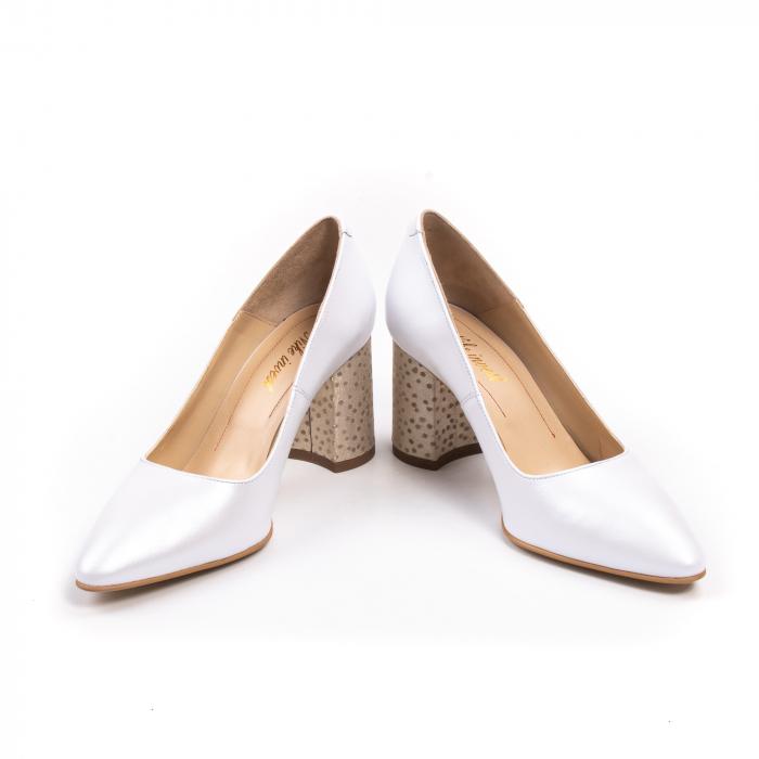 Pantofi dama Nike Invest 322 piele naturala, alb sidef 4
