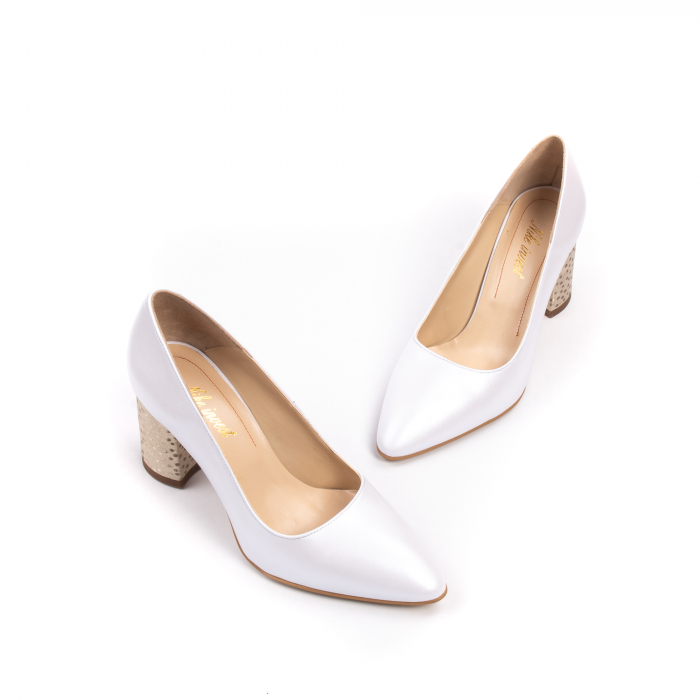 Pantofi dama Nike Invest 322 piele naturala, alb sidef 1
