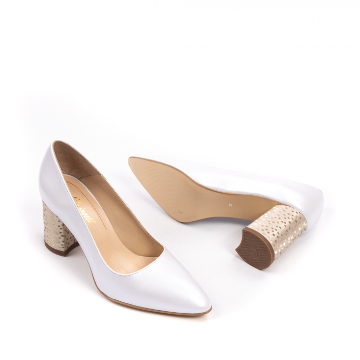 Pantofi dama Nike Invest 322 piele naturala, alb sidef 3
