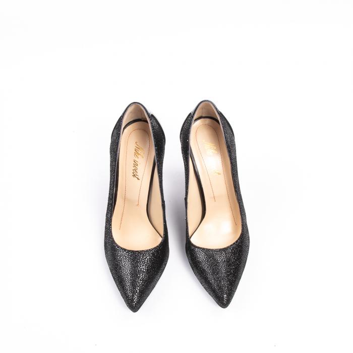 Pantofi dama piele naturala peliculizata Nike Invest 329-ngnl, negru lucios 5