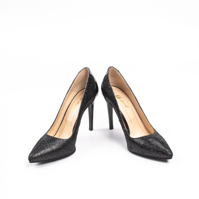 Pantofi dama piele naturala peliculizata Nike Invest 329-ngnl, negru lucios 4