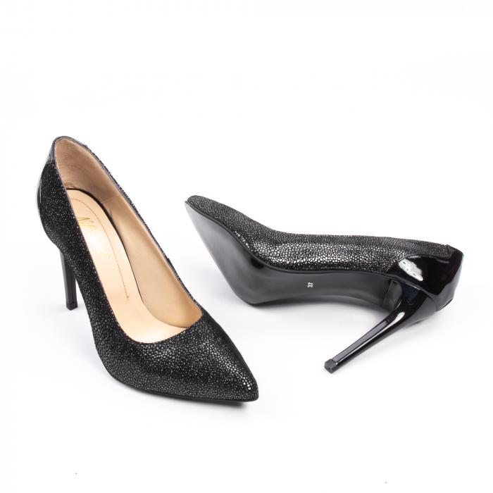 Pantofi dama piele naturala peliculizata Nike Invest 329-ngnl, negru lucios 3