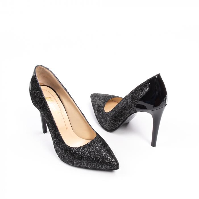 Pantofi dama piele naturala peliculizata Nike Invest 329-ngnl, negru lucios 2
