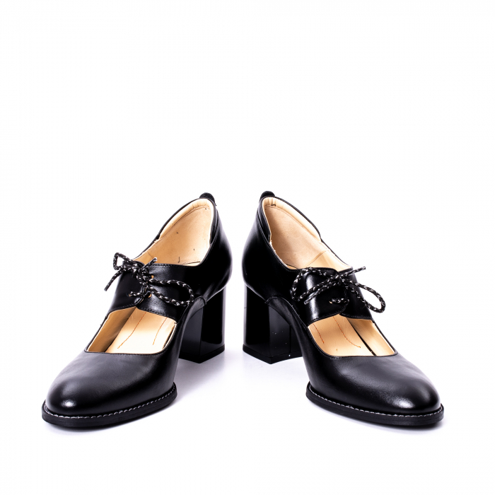 Pantofi dama piele naturala Nike Invest 327, negru 4