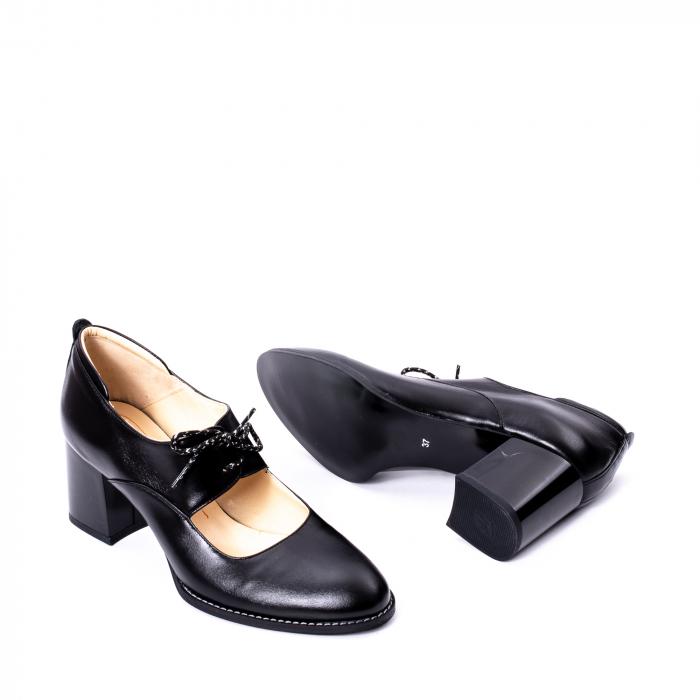 Pantofi dama piele naturala Nike Invest 327, negru 3