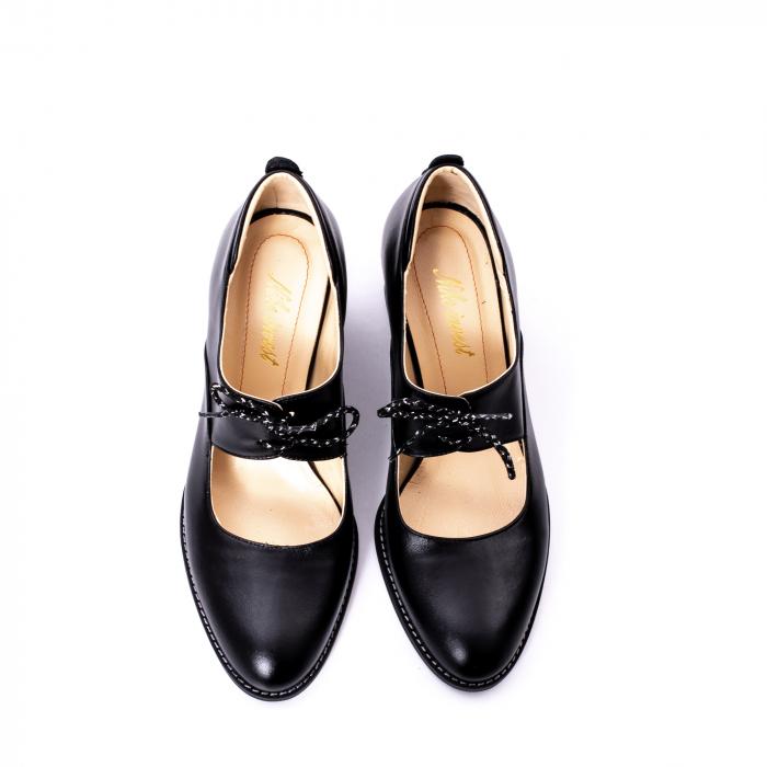 Pantofi dama piele naturala Nike Invest 327, negru 5