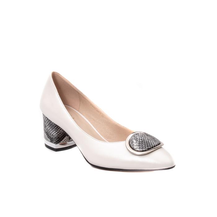 Pantofi dama piele naturala Epica W85 alb/snacke 0