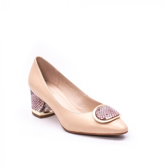 Pantofi dama piele naturala Epica W85 nude/snacke 0