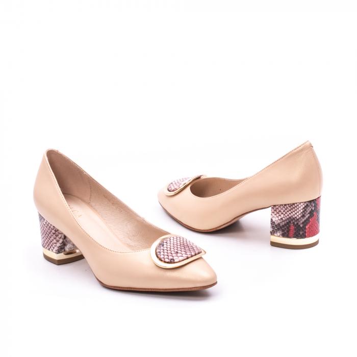 Pantofi dama piele naturala Epica W85 nude/snacke 1