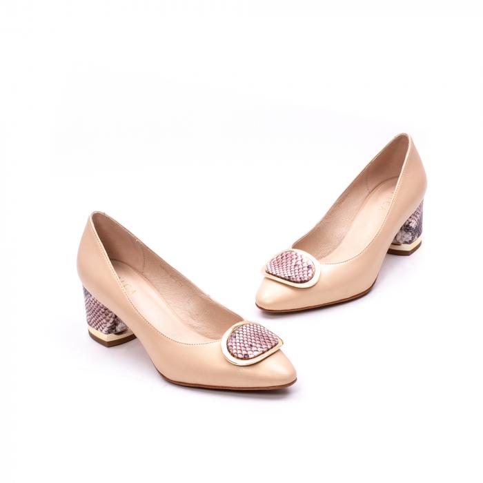 Pantofi dama piele naturala Epica W85 nude/snacke 6