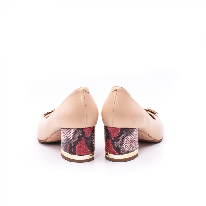 Pantofi dama piele naturala Epica W85 nude/snacke 5