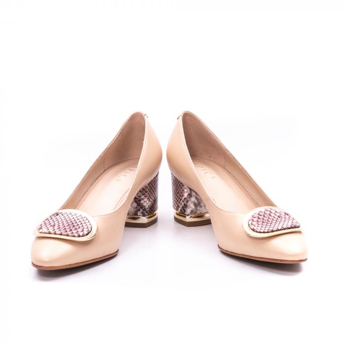 Pantofi dama piele naturala Epica W85 nude/snacke 3