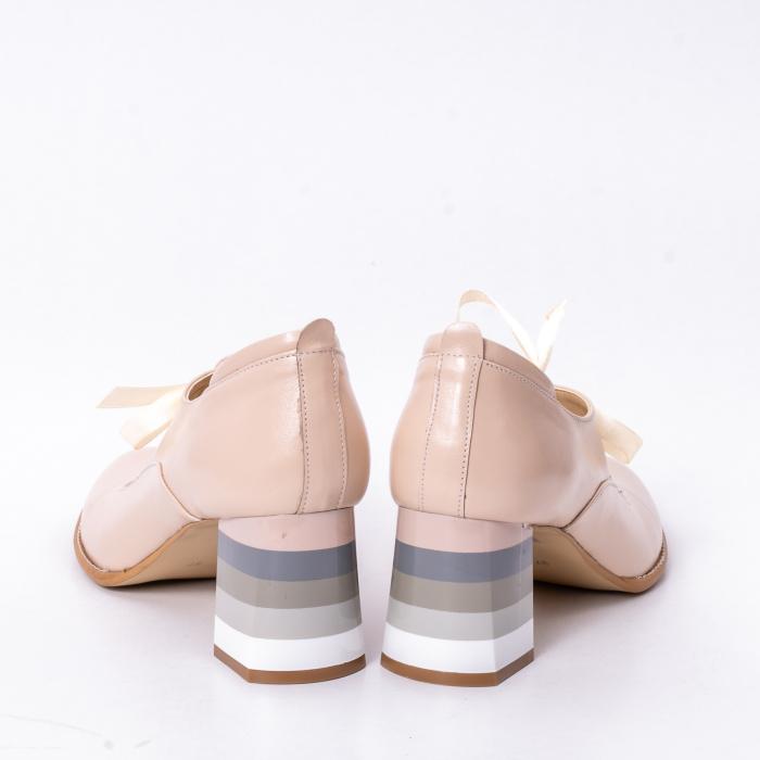 Pantofi dama piele naturala Nike Invest 327B, nude 6