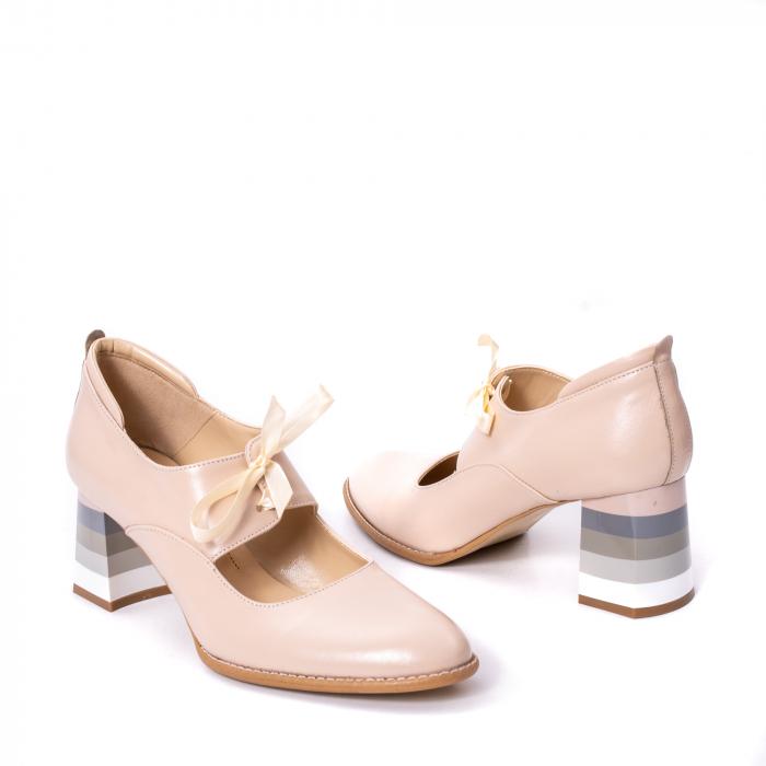 Pantofi dama piele naturala Nike Invest 327B, nude 2