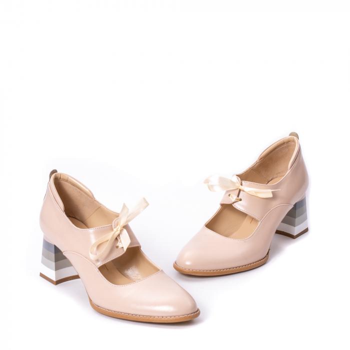 Pantofi dama piele naturala Nike Invest 327B, nude 1