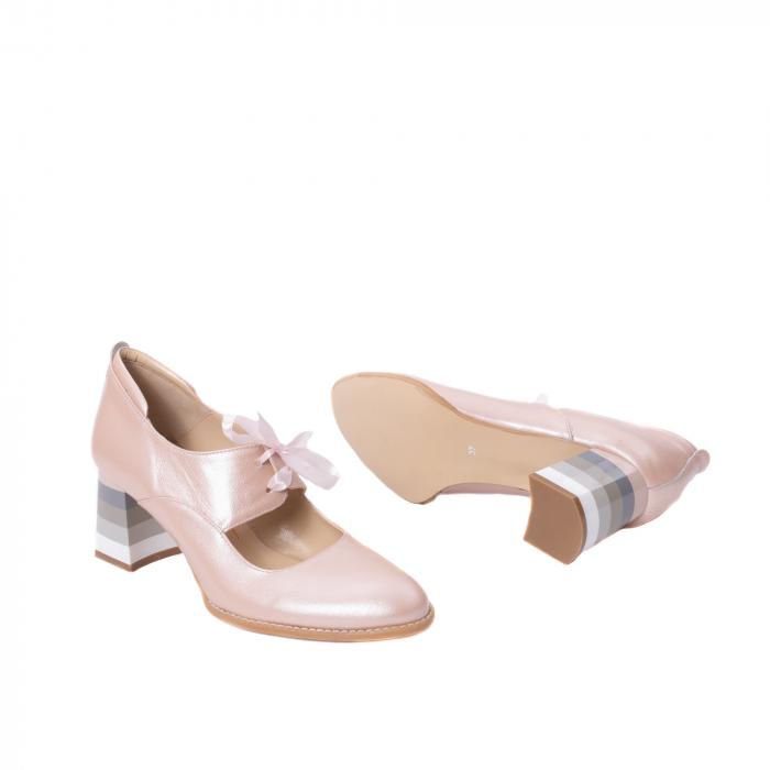 Pantofi dama piele naturala Nike Invest 327P8, nude-roze 3