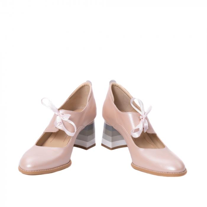 Pantofi dama piele naturala Nike Invest 327P8, nude-roze 4