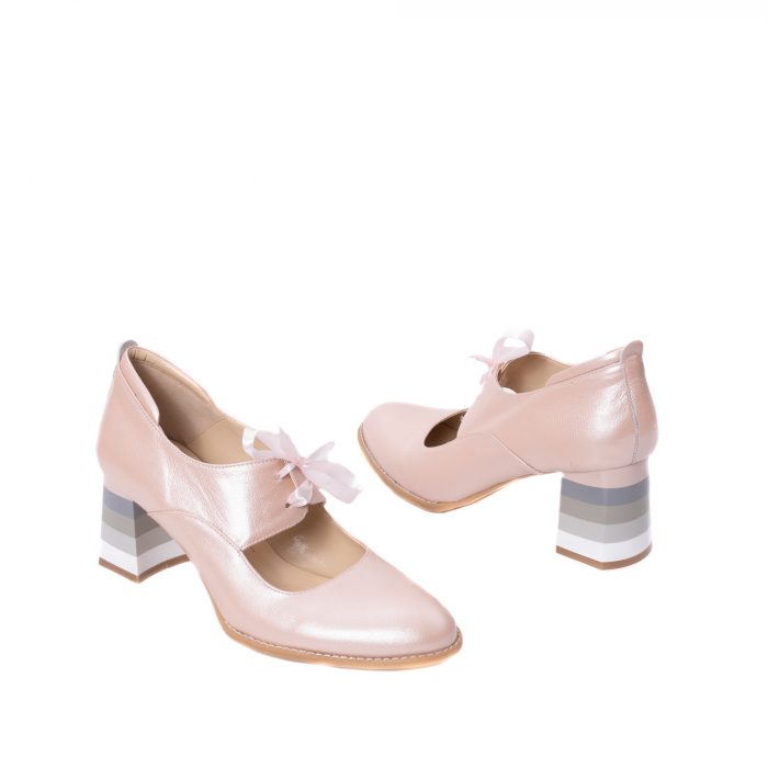 Pantofi dama piele naturala Nike Invest 327P8, nude-roze 2