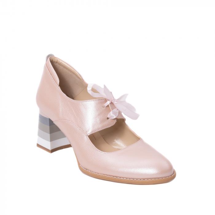 Pantofi dama piele naturala Nike Invest 327P8, nude-roze 0